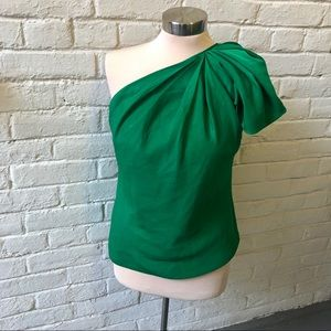Emerald green The Limited one shoulder top, small